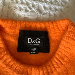 D&G Orange Sweater Dress